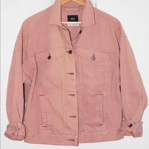 Pink over sized denim jacket from Urban Outfitters